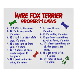WIRE FOX TERRIER PL2 POSTER