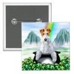 Wire Fox Terrier Pot O Gold 15 Cm Square Badge