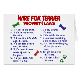 WIRE FOX TERRIER Property Laws 2 Card
