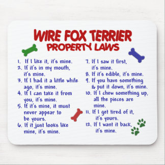 WIRE FOX TERRIER Property Laws 2 Mouse Mat