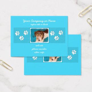Wire Fox Terrier Puppy Business Card