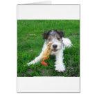 wire fox terrier puppy card