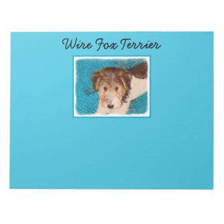 Wire Fox Terrier Puppy Notepad
