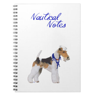 Wire Fox Terrier Sailor Notebook