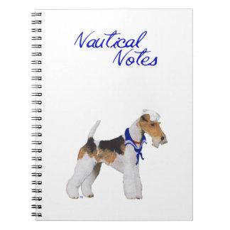 Wire Fox Terrier Sailor Notebook