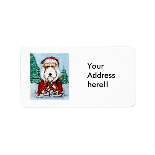 Wire Fox Terrier Santa Address Label