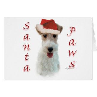 Wire Fox Terrier Santa Paws Card