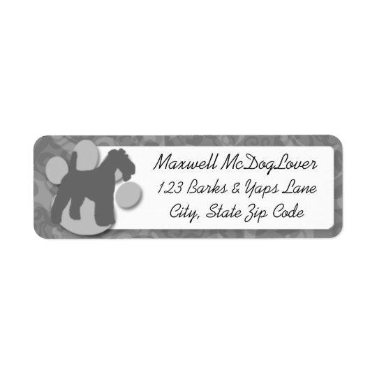 Wire Fox Terrier Silhouette Return Address Label