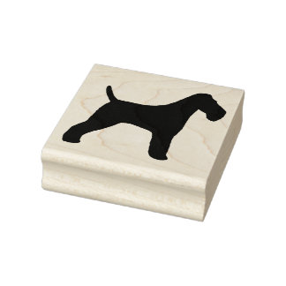 Wire Fox Terrier Silhouette Rubber Stamp