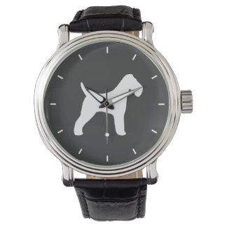 Wire Fox Terrier Silhouette Watch