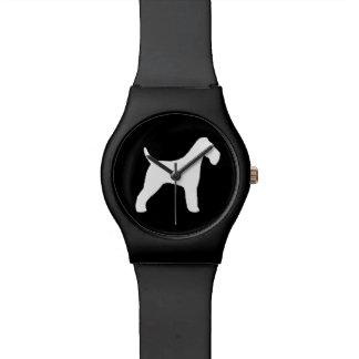 Wire Fox Terrier Silhouette Wrist Watches