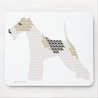 Wire Fox Terrier (silhouettes /shadows) Mouse Mat