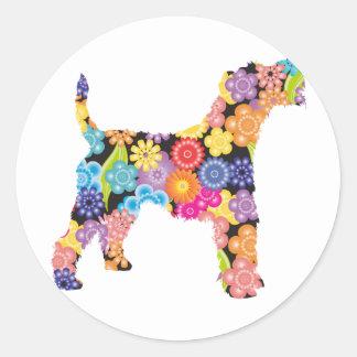 Wire Fox Terrier Classic Round Sticker