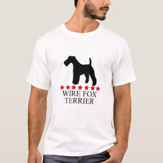 Wire Fox Terrier T-shirt with Red Stars