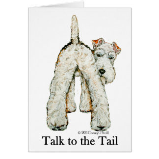 Wire Fox Terrier Tail Card