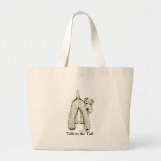 Wire Fox Terrier Tail Large Tote Bag