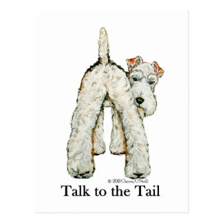 Wire Fox Terrier Tail Post Card