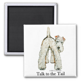 Wire Fox Terrier Tail Refrigerator Magnets