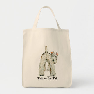 Wire Fox Terrier Tail Tote Bag