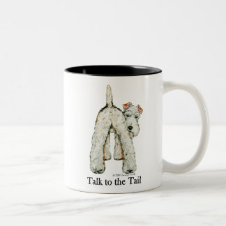 Wire Fox Terrier Tail Two-Tone Mug
