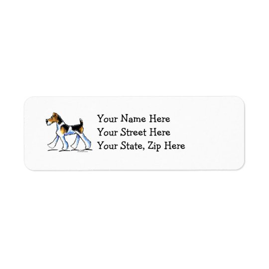 Wire Fox Terrier Trot Return Address Label