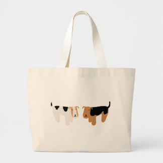 Wire Fox Terrier & Welsh Terrier Large Tote Bag