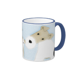 Wire Fox Terriers Ringer Mug