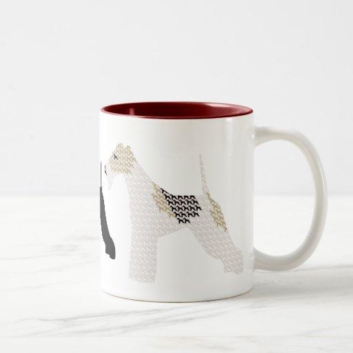 Wire Fox Terriers silhouettes / shadows Mug