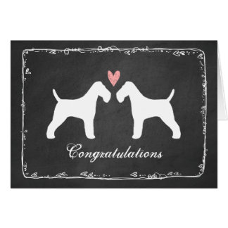 Wire Fox Terriers Wedding Congratulations Card
