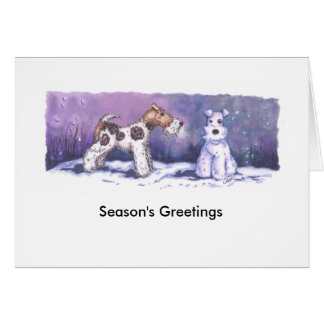 Wire Fox Winter Card with white envelope