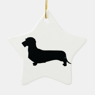 Wire Hair Dachshund Star Ornament