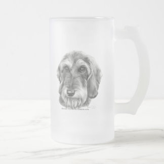 Wire-Haired Dachshund Frosted Glass Beer Mug