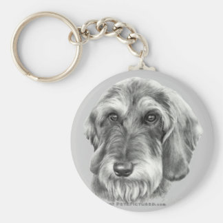 Wire-Haired Dachshund Key Ring