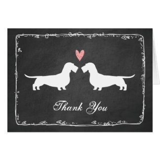 Wire Haired Dachshunds Wedding Thank You Card