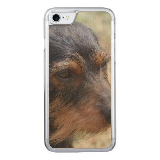 Wire Haired Daschund Dog Carved iPhone 8/7 Case