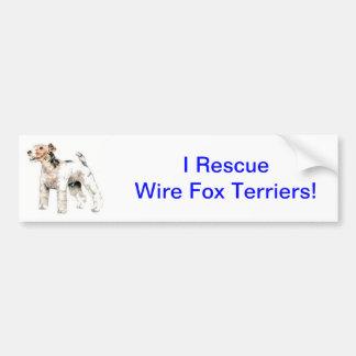 Wire Haired Fox Terrier Bumper Sticker