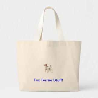 Wire Haired Fox Terrier Large Tote Bag