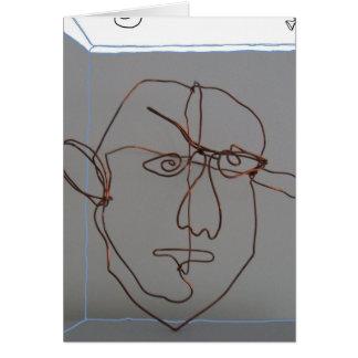 Wire sculpture copper head card