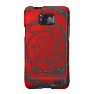 Wire Spiral on Red Galaxy S2 Covers