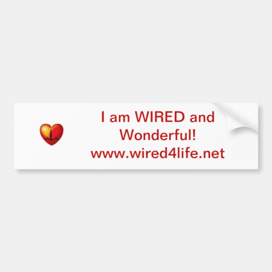 WIRED bumpersticker Bumper Sticker