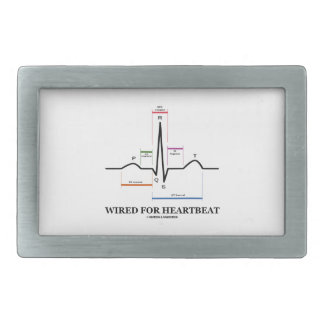 Wired For Heartbeat (Electrocardiogram) Rectangular Belt Buckle