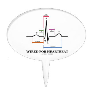 Wired For Heartbeat (Electrocardiogram) Cake Pick