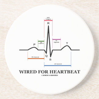 Wired For Heartbeat (Electrocardiogram) Beverage Coasters
