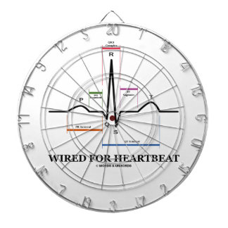 Wired For Heartbeat Electrocardiogram Dart Board