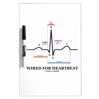 Wired For Heartbeat Electrocardiogram Dry-Erase Boards