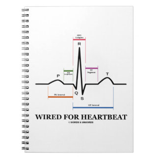 Wired For Heartbeat Electrocardiogram Spiral Note Book