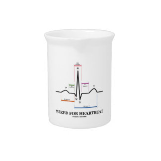 Wired For Heartbeat (Electrocardiogram) Pitcher
