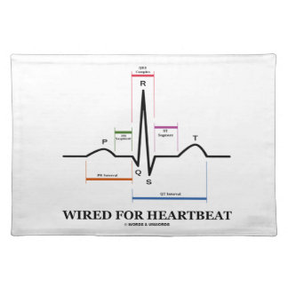 Wired For Heartbeat (Electrocardiogram) Place Mats