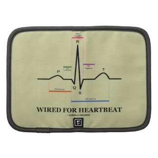 Wired For Heartbeat Electrocardiogram Folio Planners