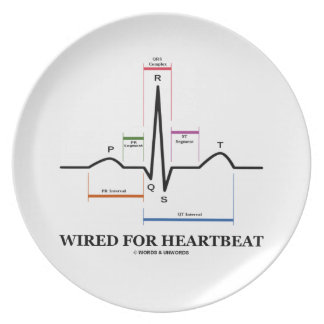 Wired For Heartbeat (Electrocardiogram) Plates